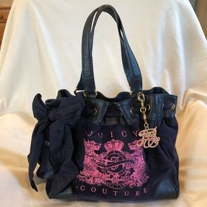 B2G1F Juicy Couture Velour Scotty Bling Tote Bag